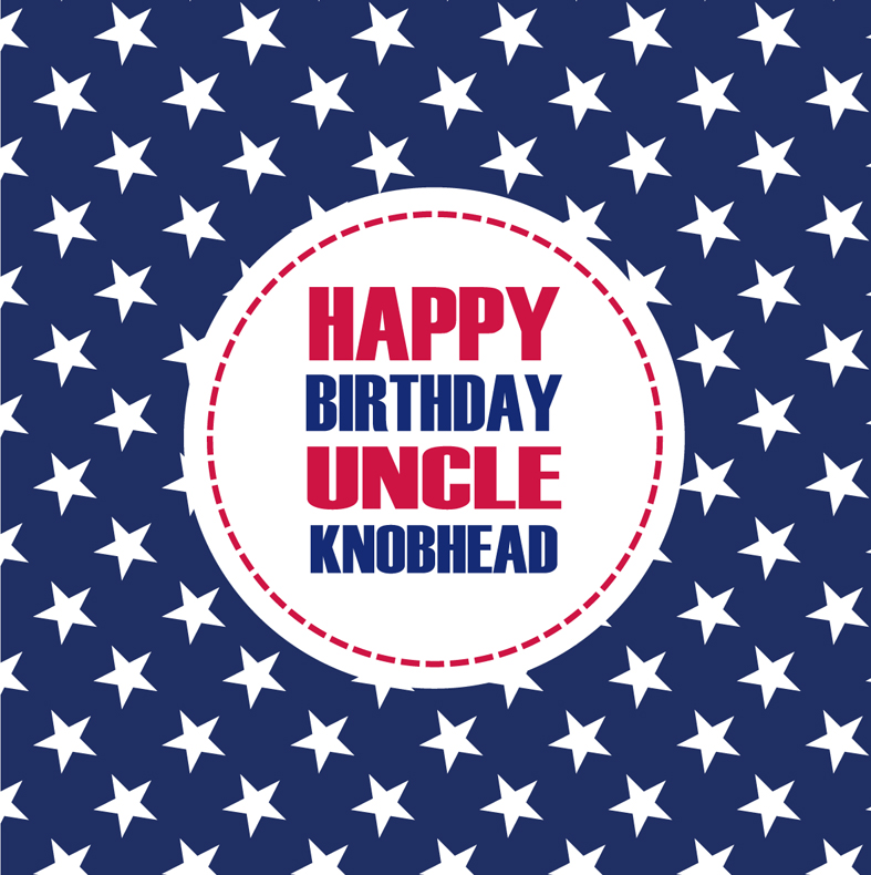 Happy Birthday Uncle Knobhead Cheeky Pink Cards